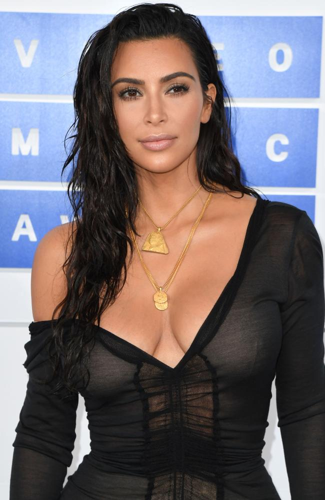"""Kim Kardashian cited """"gun control and protecting women's rights"""" as reasons she is voting for Hillary Clinton, not Donald Trump. Picture: AFP"""