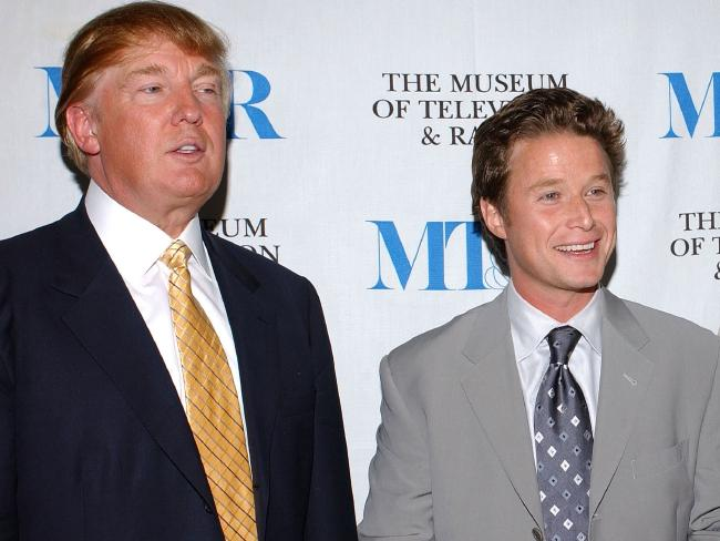 Donald Trump engaged in the 'locker room talk' with television host Billy Bush. Picture: Getty