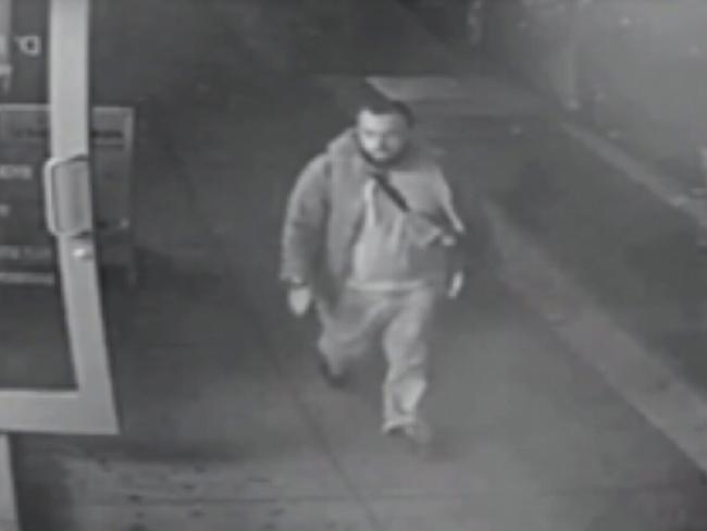 Surveillance video released by police shows Ahmad Khan Rahami near the site of Saturday's blast in New York. Picture: New Jersey State Police