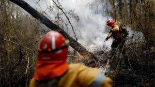 Firefighters from Argentina are helping extinguish the blazes in Bolivia.
