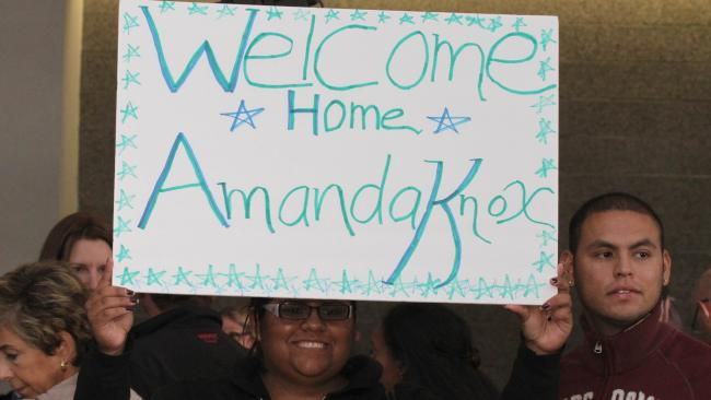 While she's struggled to return to normal life, Amanda Knox received support in her hometown of Seattle upon her release. Picture: AFP
