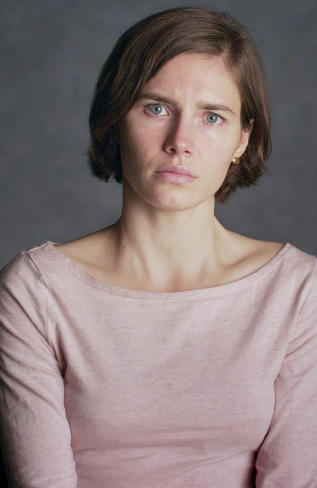 Amanda Knox in a scene from her self-titled documentary. Picture: Netflix