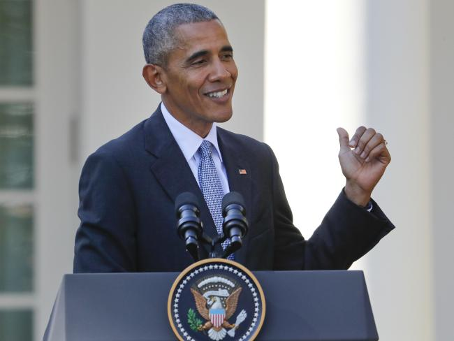 US President Barack Obama told Donald Trump to stop whining. Picture: AP