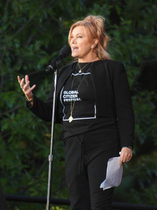 Deborra-Lee Furness speaks at the 2016 Global Citizen Festival. Picture: AFP / Angela Weiss