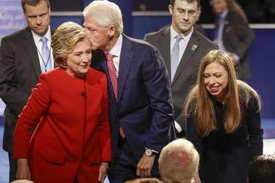 Clinton Trump battle fiercely over taxes race terror