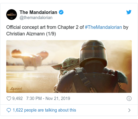 Twitter post by @themandalorian: Official concept art from Chapter 2 of #TheMandalorian by Christian Alzmann (1/9)