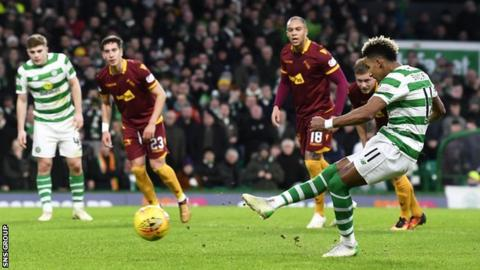 Scott Sinclair scored Celtic's second from the spot
