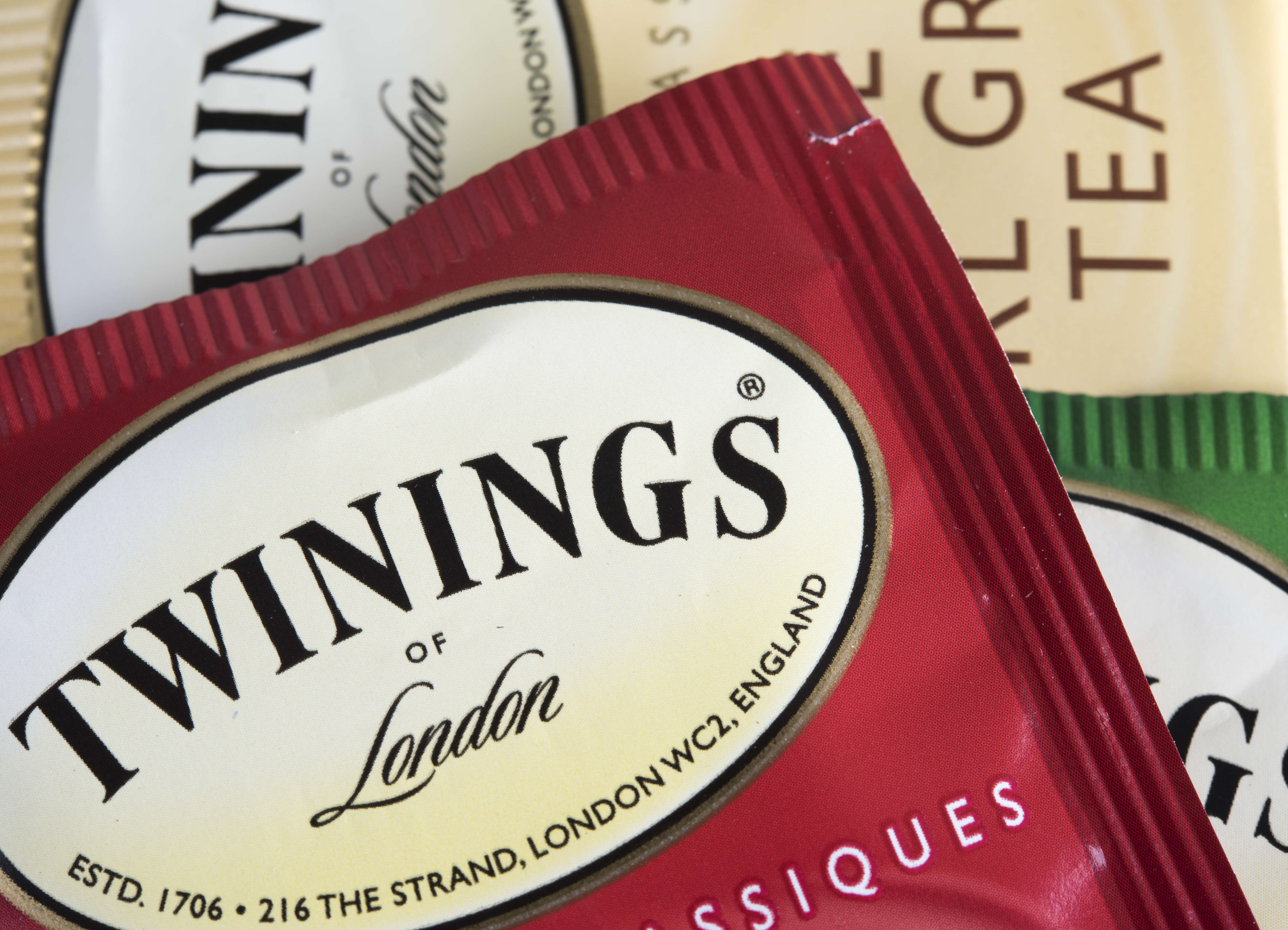 A Twinings tea bag