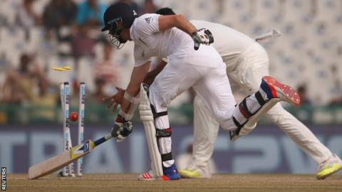 James Anderson is run out