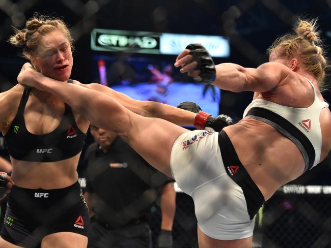 "Ronda Rousey says MMA does not promote violence. It's the ""most responsible outlet for it"", she says."