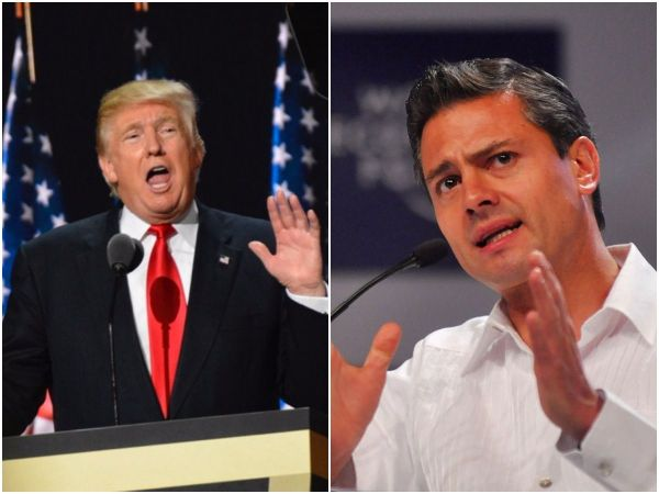 Donald Trump Mexican President Take Border Wall Payment Fight To Twitter
