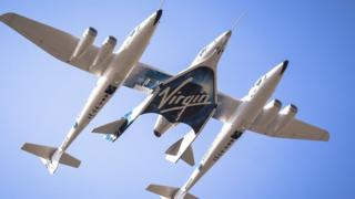 Virgin Galactic plane