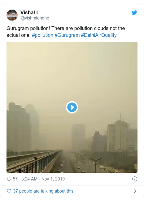 Twitter post by @erkashishgarg01: Clean air is a basic right.Chile, Bolivia, Lebanon, Hong Kong are all protesting for their rights.Why are people in #Delhi and rest of India tolerating their families being poisoned year after year?Have Indians accepted living in gas chambers?#DelhiAirQuality#DelhiSmog