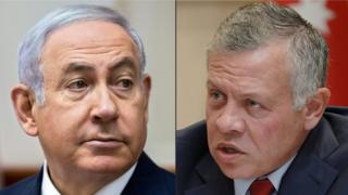 Netanyahu (L) and Abdullah (R)