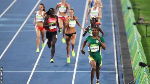 Caster Semenya wins gold in the Rio 2016 Olympics