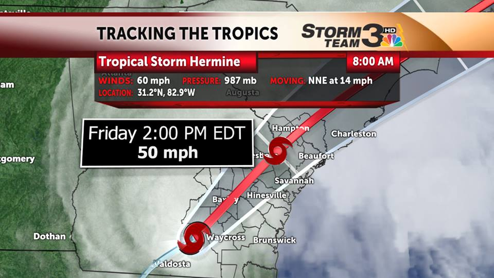 Hermine to throw a wrench in East Coast Labor Day weekend plans