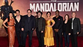 The premiere of Lucasfilm's first-ever, live-action series, The Mandalorian, at the El Capitan Theatre in Hollywood, Calif. on November 13, 2019. The Mandalorian streams exclusively on Disney+.
