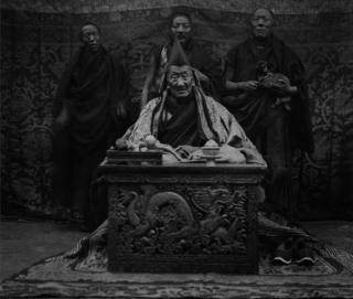 Tibetan monks, and the abbot of Shekar Chote monastery