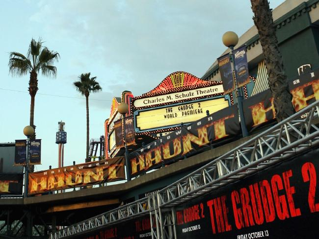 Knott's Scary Farm in Buena Park, California, has shut down the ride after public outrage. Picture: Kevin Winter/Getty Images