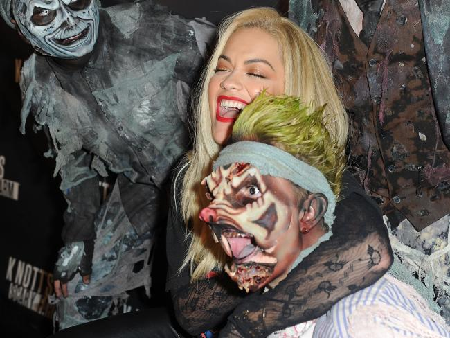 Rita Ora arrives for a Halloween event at Knott's Scary Farm last year. Picture: Joshua Blanchard/Getty Images