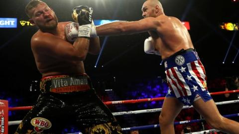 Fury had little difficulty in breaking through the Schwarz guard