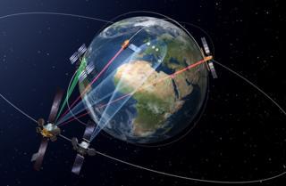 Artwork of EDRS in space
