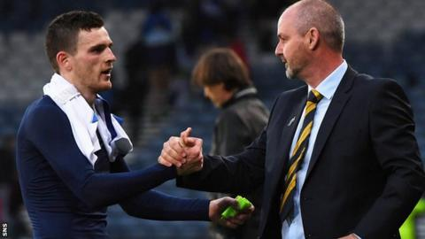 Robertson has played in five of Clarke's six matches in charge of Scotland