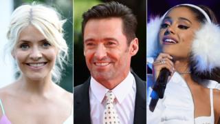 Holly Willoughby, Hugh Jackman, Ariana Grande