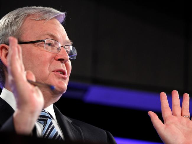 Kevin Rudd says UN claims are untrue. Picture: Stefan Postles/Getty Images