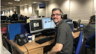 Dale Garbacki at his desk