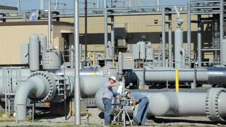 A pipeline hub run by Spectra Energy Corp. in Guilford Pa. Canada's Enbridge is buying Houston-based Spectra Energy for about $28 billion