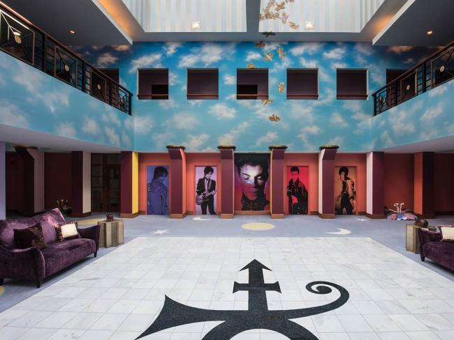 The atrium of Prince's Paisley Park in Chanhassen, Minnesota. Picture: Paisley Park/NPG Records via AP