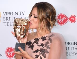 Caroline Flack at the 2018 Bafta Awards