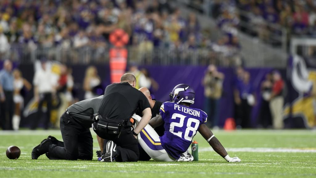 Adrian Peterson torn meniscus