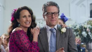 Carrie (Andie MacDowell) and Charles (Hugh Grant) in film scene