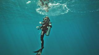 Ilena Zanella diving