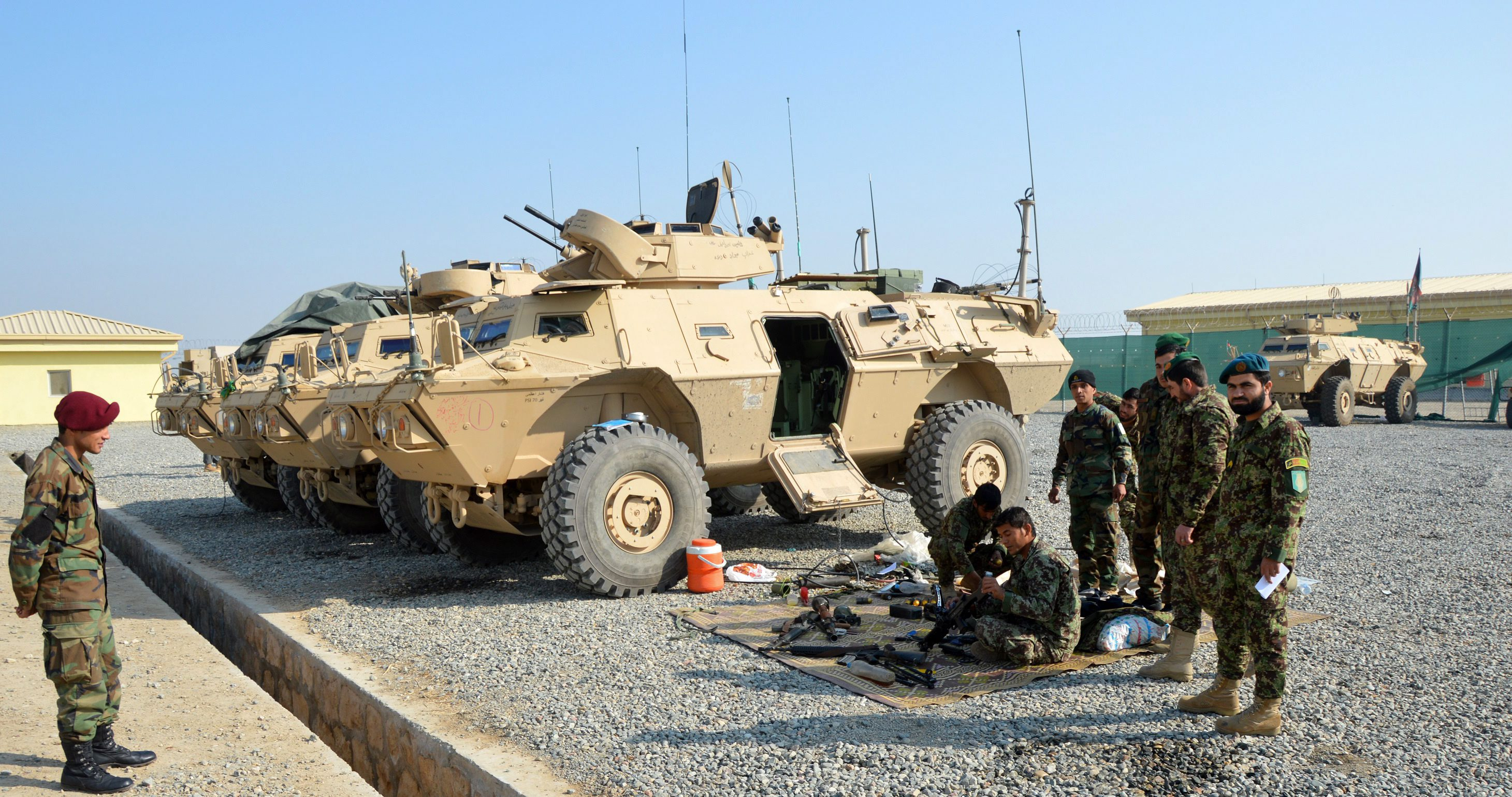 Afghan security officials operation against Taliban militants in Kunduz