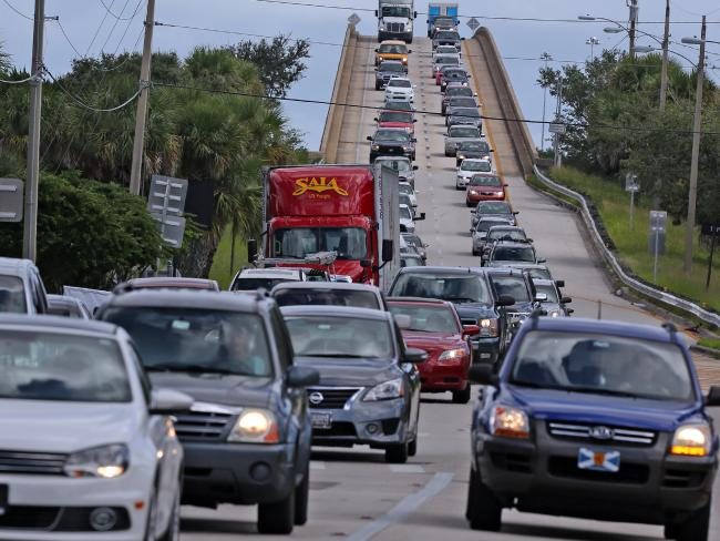 Hundreds of thousands have been evacuated as Hurricane Matthew approaches Florida. Picture: Red Huber/Orlando Sentinel via AP.