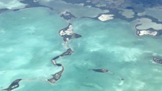 Aerial shot shows some of the Florida Keys