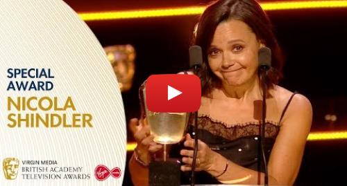 Youtube post by BAFTA: Nicola Shindler Wins the Special Award | BAFTA TV Awards 2019
