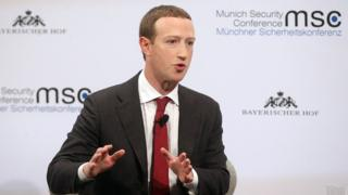 Facebook founder and CEO Mark Zuckerberg speaks during a panel talk