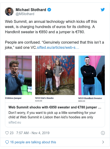 Twitter post by @AllieLindo: This just underscores how tech conferences like this are for the rich and are exclusionary to founders without easy access to liquid capital. This is a symptom of a larger issue.