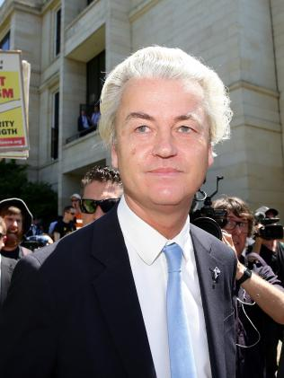 Controversial right-wing Dutch MP Geert Wilders.