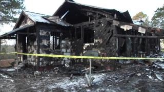 Destroyed house in Mississippi