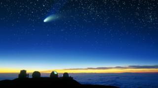 Comet Halle-Bop seen from Mauna Kea