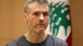 Canadian citizen, Kristian Lee Baxter, appearing at a news conference