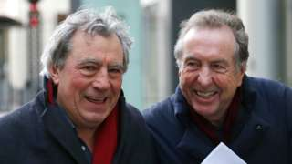 Terry Jones and Eric Idle in 2012