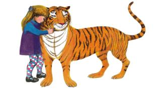 Illustration of The Tiger Who Came To Tea