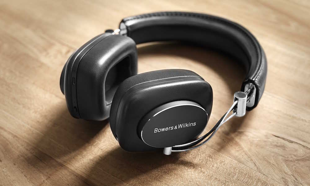 Bowers  Wilkins P7 Wireless Headphones Laying on Table