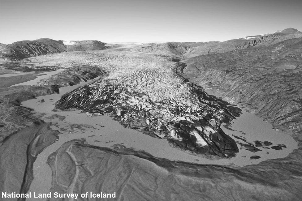 Hoffellsjökull glacier in 1982